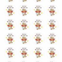 24 Sticker Etiketten Aufkleber, rund D= 4 cm, neu, Schutzengel, Ich bin für dich da Bild 2