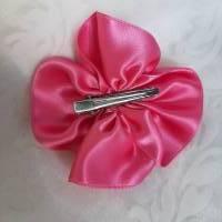 """Haarklammer Pink Satin Haarblüte """"Mimi"""" Hochzeit Brautschmuck Abschlussball Taufe  Bild 3"""