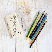 Stiftehalter für die Einschulung, Schulbedarf, personalisiertes Geschenk, sechsseitige Gravur, Namensgravur Bild 3