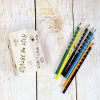 Stiftehalter für die Einschulung, Schulbedarf, personalisiertes Geschenk, sechsseitige Gravur, Namensgravur Bild 4