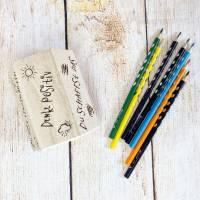 Stiftehalter für die Einschulung, Schulbedarf, personalisiertes Geschenk, sechsseitige Gravur, Namensgravur Bild 5