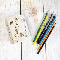 Stiftehalter für die Einschulung, Schulbedarf, personalisiertes Geschenk, sechsseitige Gravur, Namensgravur Bild 7
