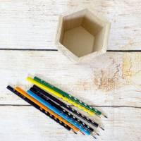 Stiftehalter für die Einschulung, Schulbedarf, personalisiertes Geschenk, sechsseitige Gravur, Namensgravur Bild 8