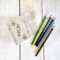 Stiftehalter für die Einschulung, Schulbedarf, personalisiertes Geschenk, sechsseitige Gravur, Namensgravur Bild 9