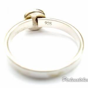Schlichter Ring 925-Silber mit Edelsteincabochon - Auswahl Bild 5