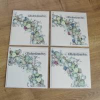 """Glückwunschkarte, Geburtstagskarte """"Hortensienkranz"""" aus der Manufaktur Karla Bild 1"""