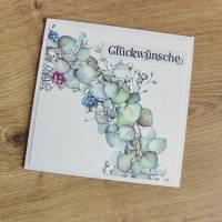 """Glückwunschkarte, Geburtstagskarte """"Hortensienkranz"""" aus der Manufaktur Karla Bild 7"""