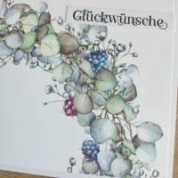 """Glückwunschkarte, Geburtstagskarte """"Hortensienkranz"""" aus der Manufaktur Karla Bild 8"""
