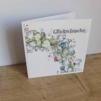 """Glückwunschkarte, Geburtstagskarte """"Hortensienkranz"""" aus der Manufaktur Karla Bild 9"""