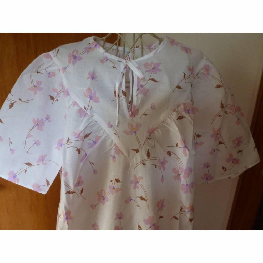 Vintage Damen-Nachthemd mit rosa Blüten - DDR - 80er Jahre ... Bild 1