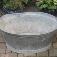 alte Zinkwanne Waschzuber 80 Liter Bild 1