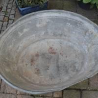alte Zinkwanne Waschzuber 80 Liter Bild 2