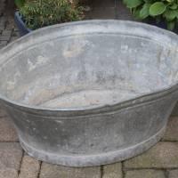 alte Zinkwanne Waschzuber 80 Liter Bild 3