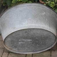 alte Zinkwanne Waschzuber 80 Liter Bild 4