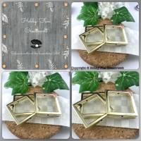 HFC25618-Vb: Goldfarbene Acryl-Verbinder-Quadrate Bild 1
