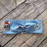 Knotenhaarband / Turbanhaarband / Stirnband im sweet French Bulldog Design Haarschmuck Rockabilly für den Herbst  Bild 1