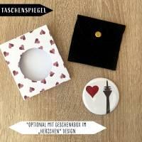 Rheinturm Herz Taschenspiegel Mini Spiegel Bild 1
