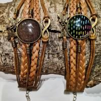 Cabochon Armband braun  Bild 4
