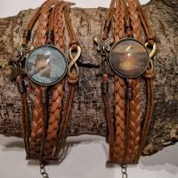 Cabochon Armband braun  Bild 5