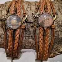 Cabochon Armband braun  Bild 6