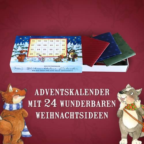 Adventskalender 24 Weihnachtslose · 11 x 6,5 x 2,1 cm · Tiere Weihnachten Advent Lose Ideen Inspiration Waldtiere
