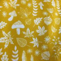 Herbst Strampler: Pilze, Blätter und Farne in ockre gelb öko  Gr. 68-74  Baby Strampler Mitwachs Herbst Fuchs Strampler Bild 2