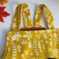 Herbst Strampler: Pilze, Blätter und Farne in ockre gelb öko  Gr. 68-74  Baby Strampler Mitwachs Herbst Fuchs Strampler Bild 3