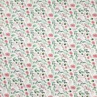 Jersey Stoff mit kleinen Rosen, weiß, rosa grün Bild 3