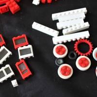 großes LEGO Konvolut 70er Jahre Dachsteine Fenster Bild 5