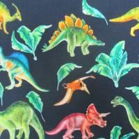 French Terry, Sweat  Dinosaurier, Palmen, marine Oeko-Tex Standard 100(1m/18,-€)  Bild 2