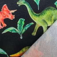 French Terry, Sweat  Dinosaurier, Palmen, marine Oeko-Tex Standard 100(1m/18,-€)  Bild 3