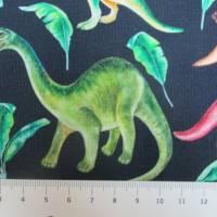 French Terry, Sweat  Dinosaurier, Palmen, marine Oeko-Tex Standard 100(1m/18,-€)  Bild 4