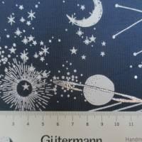 Baumwolljersey mit silber Glitzer Universum Weltall  Oeko-Tex Standard 100(1m/14,-€) Bild 5
