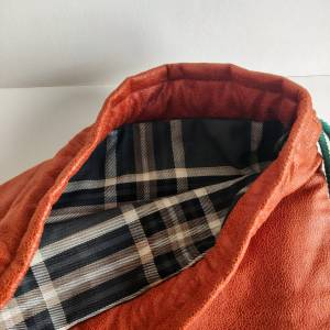 Yogatasche - Gymbag aus Kunstleder und Oilskin in cognac und dunkelgrün Bild 4