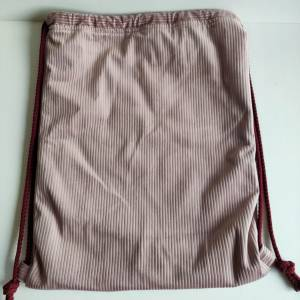 Yogatasche - Gymbag aus Cordstoff in rosa mit einem rosa STERN Bild 6