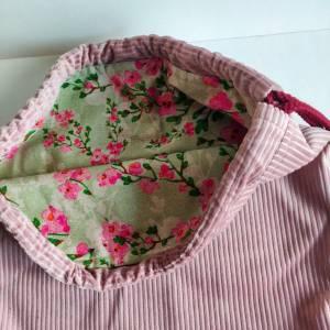 Yogatasche - Gymbag aus Cordstoff in rosa mit einem rosa STERN Bild 7
