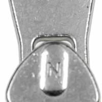 Zipper / Schieber nickel / silber 6mm für Reißverschluss-Meterware in Metalloptik Bild 2