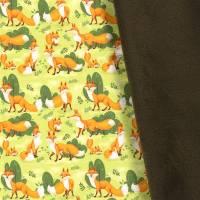 Softshell  mit Fleece -  Abseite, Fuchs hellgrün ( 1m/13,00€ ) Bild 2