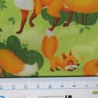 Softshell  mit Fleece -  Abseite, Fuchs hellgrün ( 1m/13,00€ ) Bild 4