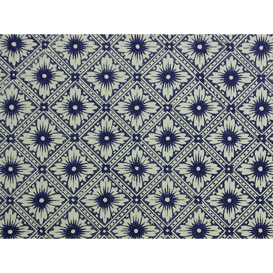 "Italienisches Papier - CARTA VARESE Design CV132 - ""Stellafiore blu"" Bild 1"