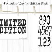 Plotterdatei Limited Edition Blocks, Buchstaben und Schriftzug, 2 Designs Bild 2