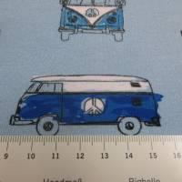 French Terry Baumwolljersey Transporter Bus  hellblau (1m/17,-€)  Bild 4