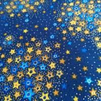 Patchworkstoff kleine Blättchen goldumrandet auf oliven Untergrund , Robert Kaufmann Nr. 20 Bild 6