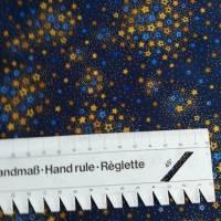 Patchworkstoff kleine Blättchen goldumrandet auf oliven Untergrund , Robert Kaufmann Nr. 20 Bild 7