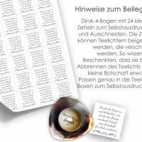 WEIHNACHTEN Teelicht - Botschaften Teelicht Vorlagen Bilder für Teelichter digitale Datei zum Selbstausdrucken  Bild 6