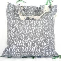 winterlicher Einkaufsbeutel, Stofftasche, Baumwollbeutel faltbar *Lustige Elche* Bild 2