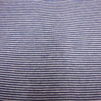 0,50m Bündchenstoff Schlauchware weiss/ jeansblau geringelt 1mm 50cm Schlauch Öko-Tex Standard 100-Meterware Glünzstoffe Bild 2