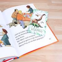 Lesepass Dinosaurier Lesezeichen zum lesen üben Grundschule Bild 5