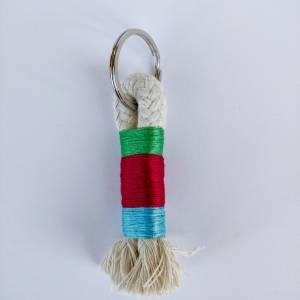 Schlüsselanhänger aus Baumwollseil Bild 4
