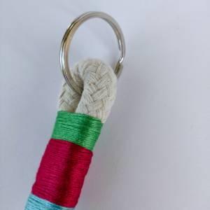 Schlüsselanhänger aus Baumwollseil Bild 5